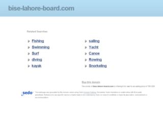 bise-lahore-board.com screenshot