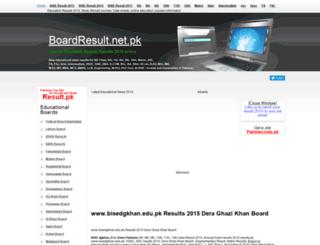 bisedgkhan.boardresult.net.pk screenshot