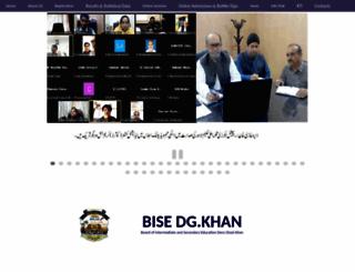 bisedgkhan.edu.pk screenshot