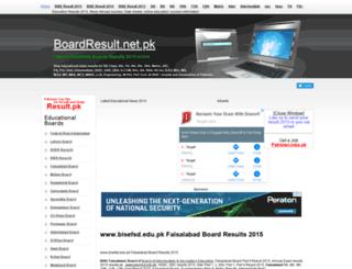 bisefsd.boardresult.pk screenshot