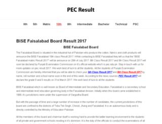 bisefsd.pec-result.com screenshot