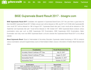 bisegrw.pkresult.com screenshot