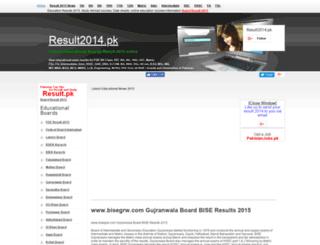 bisegrw.result2014.pk screenshot