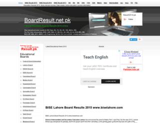 biselahore.boardresult.net.pk screenshot