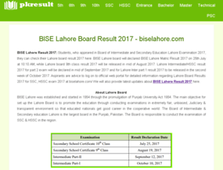 biselahore.pkresult.com screenshot