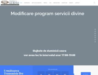 bisericaalbini.com screenshot