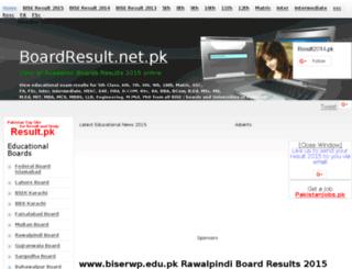 biserwp.boardresult.net.pk screenshot