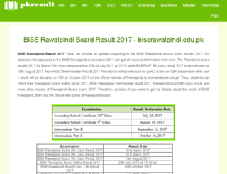biserwp.pkresult.com screenshot