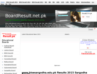 bisesargodha.boardresult.net.pk screenshot