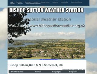bishopsuttonweather.org.uk screenshot