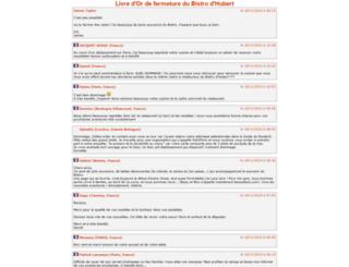 bistrodhubert.com screenshot