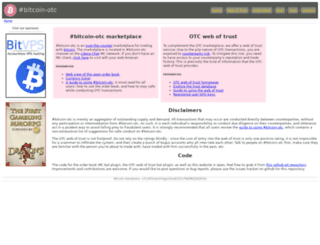 bitcoin-otc.com screenshot