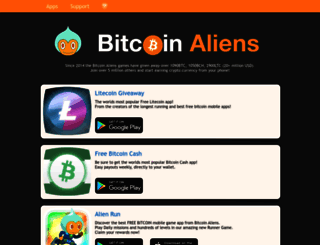 bitcoinaliens.com screenshot