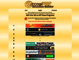 bitcoindownlines.com screenshot