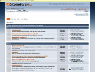 bitcoinforum.com screenshot