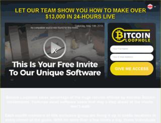 bitcoinloophole.co screenshot