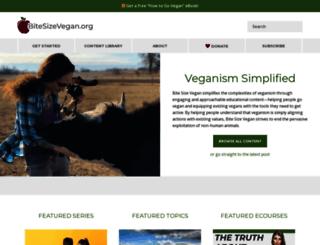 bitesizevegan.com screenshot