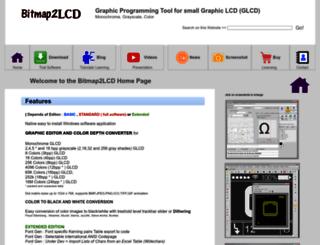bitmap2lcd.com screenshot