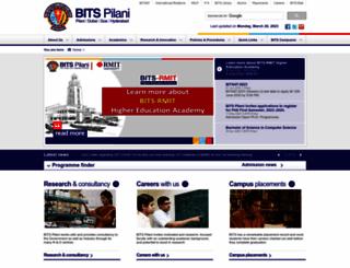 bits-pilani.ac.in screenshot
