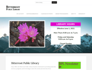 bitterrootpubliclibrary.org screenshot