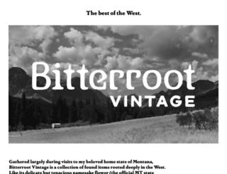 bitterrootvintage.com screenshot