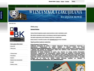 biurokarier.wsz.edu.pl screenshot