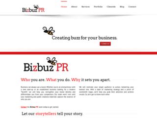 bizbuzpr.com screenshot