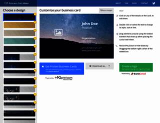 bizcardmaker.com screenshot