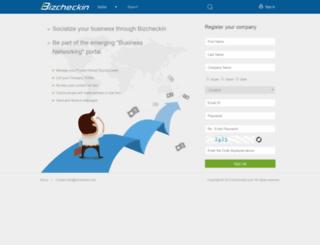 bizcheckin.com screenshot