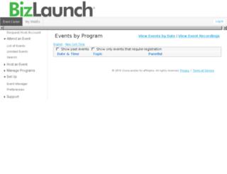 bizlaunchevents.webex.com screenshot