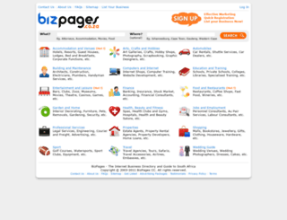 bizpages.co.za screenshot
