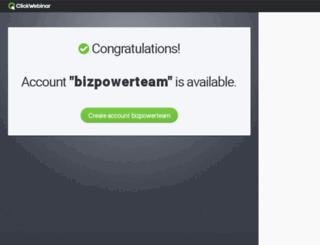 bizpowerteam.clickwebinar.com screenshot