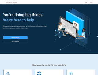 bizspark.com screenshot