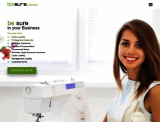 bizsure.com.au screenshot