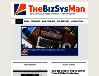 bizsysman.com screenshot