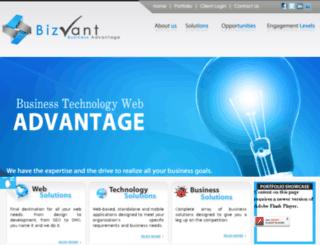 bizvant.com screenshot