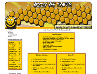 bizzy-bee-traffic.com screenshot