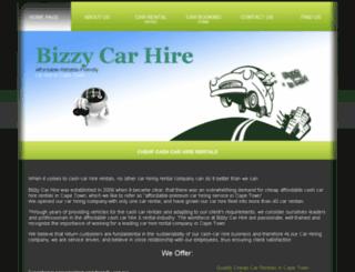 bizzycarhire.co.za screenshot