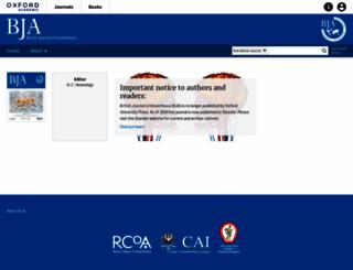 bja.oxfordjournals.org screenshot