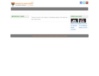 bjpinloksabha.com screenshot