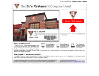 bjsrestaurant.couponrocker.com screenshot