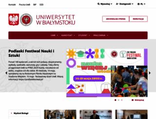 bk.uwb.edu.pl screenshot