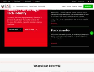 bkbprecision.com screenshot