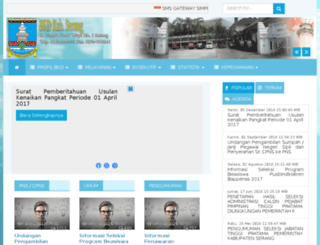 bkd.serangkab.go.id screenshot