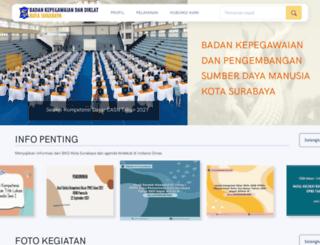 bkd.surabaya.go.id screenshot