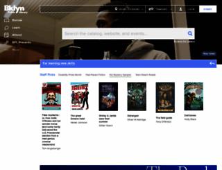 bklynlibrary.org screenshot