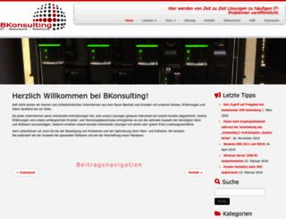 bkonsulting.de screenshot