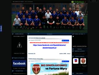 bkssparta.futbolowo.pl screenshot