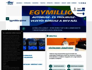 bkv.hu screenshot