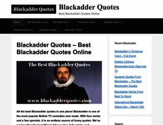 blackadderquotes.com screenshot